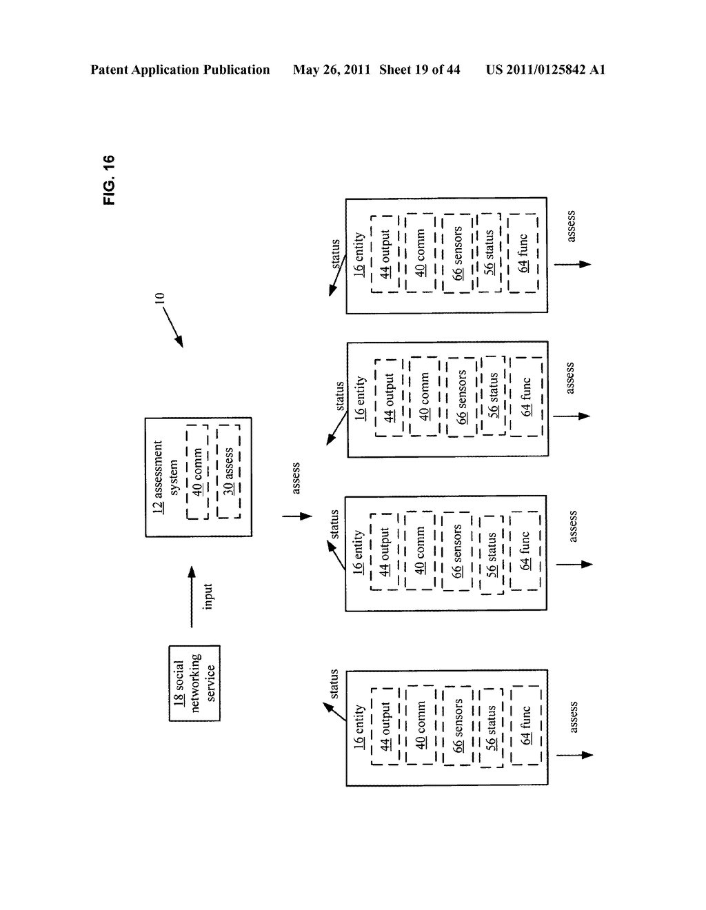 System and method for comparison of physical entity attribute effects on physical environments through in part social networking service input - diagram, schematic, and image 20