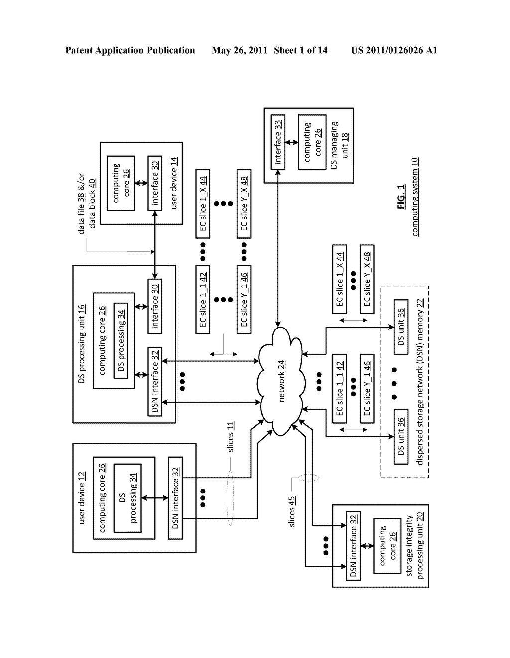 EFFICIENT STORAGE OF ENCRYPTED DATA IN A DISPERSED STORAGE NETWORK - diagram, schematic, and image 02