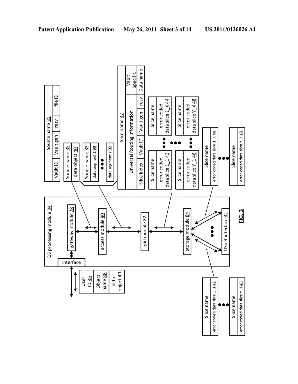 EFFICIENT STORAGE OF ENCRYPTED DATA IN A DISPERSED STORAGE NETWORK - diagram, schematic, and image 04