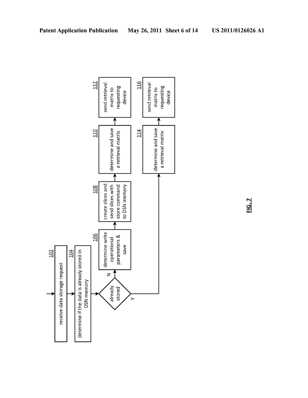 EFFICIENT STORAGE OF ENCRYPTED DATA IN A DISPERSED STORAGE NETWORK - diagram, schematic, and image 07