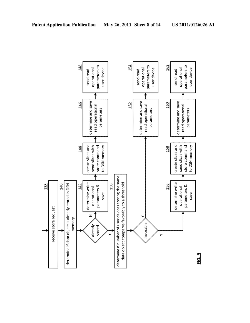 EFFICIENT STORAGE OF ENCRYPTED DATA IN A DISPERSED STORAGE NETWORK - diagram, schematic, and image 09