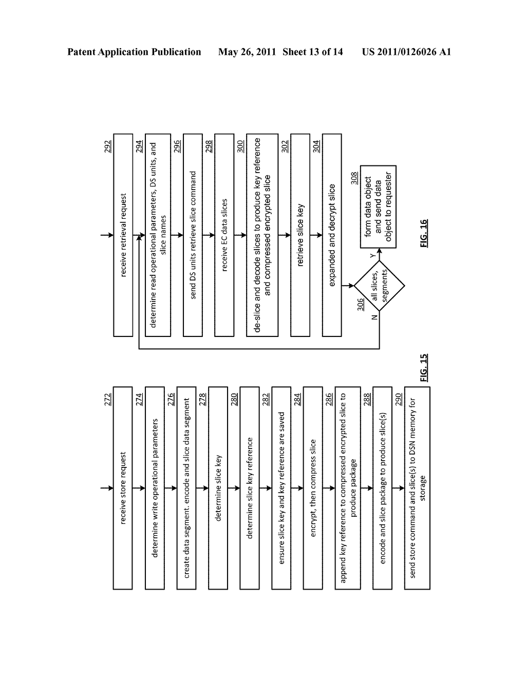 EFFICIENT STORAGE OF ENCRYPTED DATA IN A DISPERSED STORAGE NETWORK - diagram, schematic, and image 14
