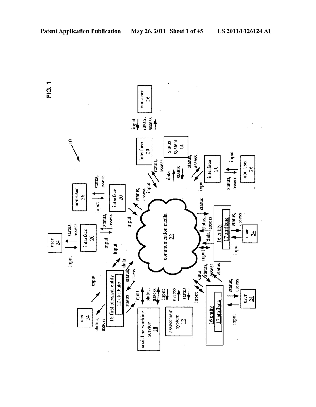 System and method for receiving selection of physical entities associated with a social network for comparison of physical attribute status - diagram, schematic, and image 02