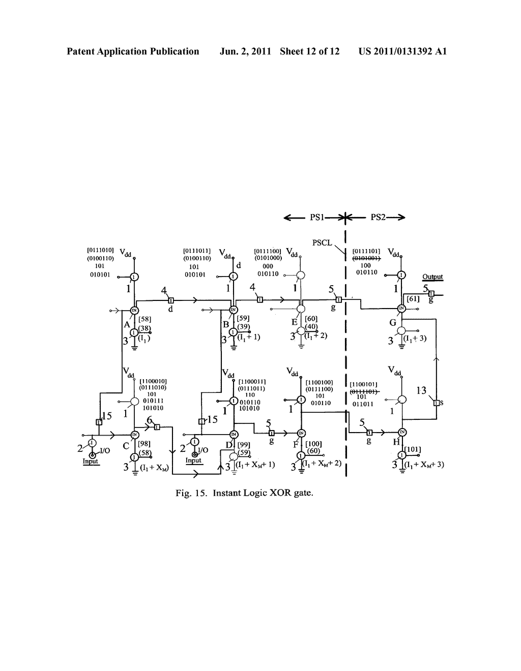 Method and apparatus for scalable and super-scalable information     processing using binary gate circuits structured by code-selected pass     transistors - diagram, schematic, and image 13