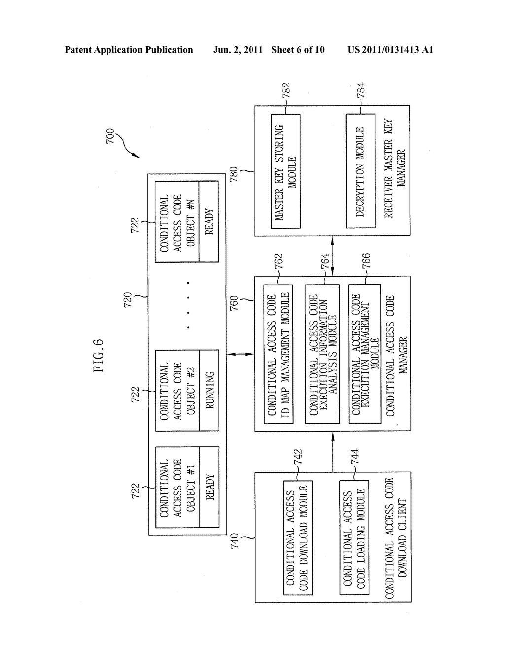 APPARATUS AND METHOD FOR DYNAMIC UPDATE OF SOFTWARE-BASED IPTV CONDITIONAL     ACCESS SYSTEM - diagram, schematic, and image 07