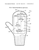 HAND COVERING(S) WITH DISPENSER AND/OR RECEPTACLE POCKET diagram and image