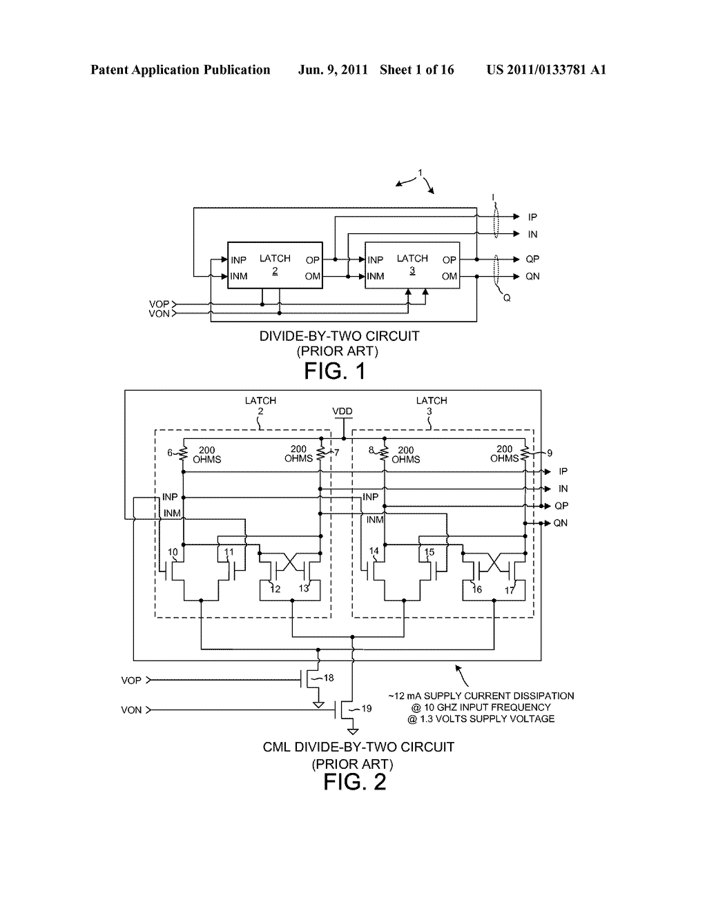 LOW POWER COMPLEMENTARY LOGIC LATCH AND RF DIVIDER - diagram, schematic, and image 02