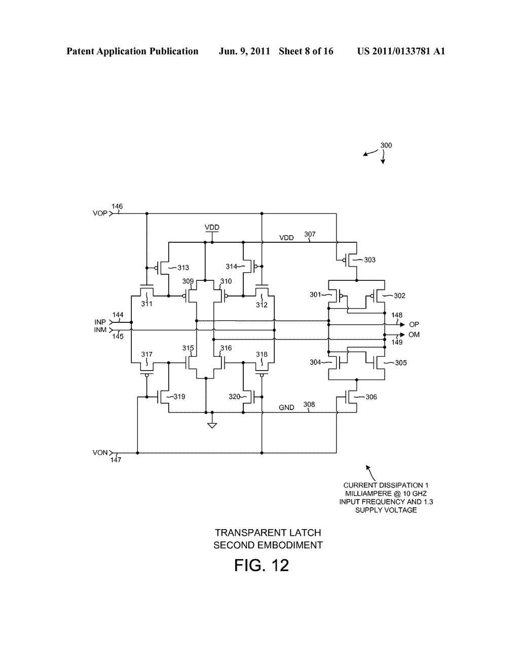 LOW POWER COMPLEMENTARY LOGIC LATCH AND RF DIVIDER - diagram, schematic, and image 09