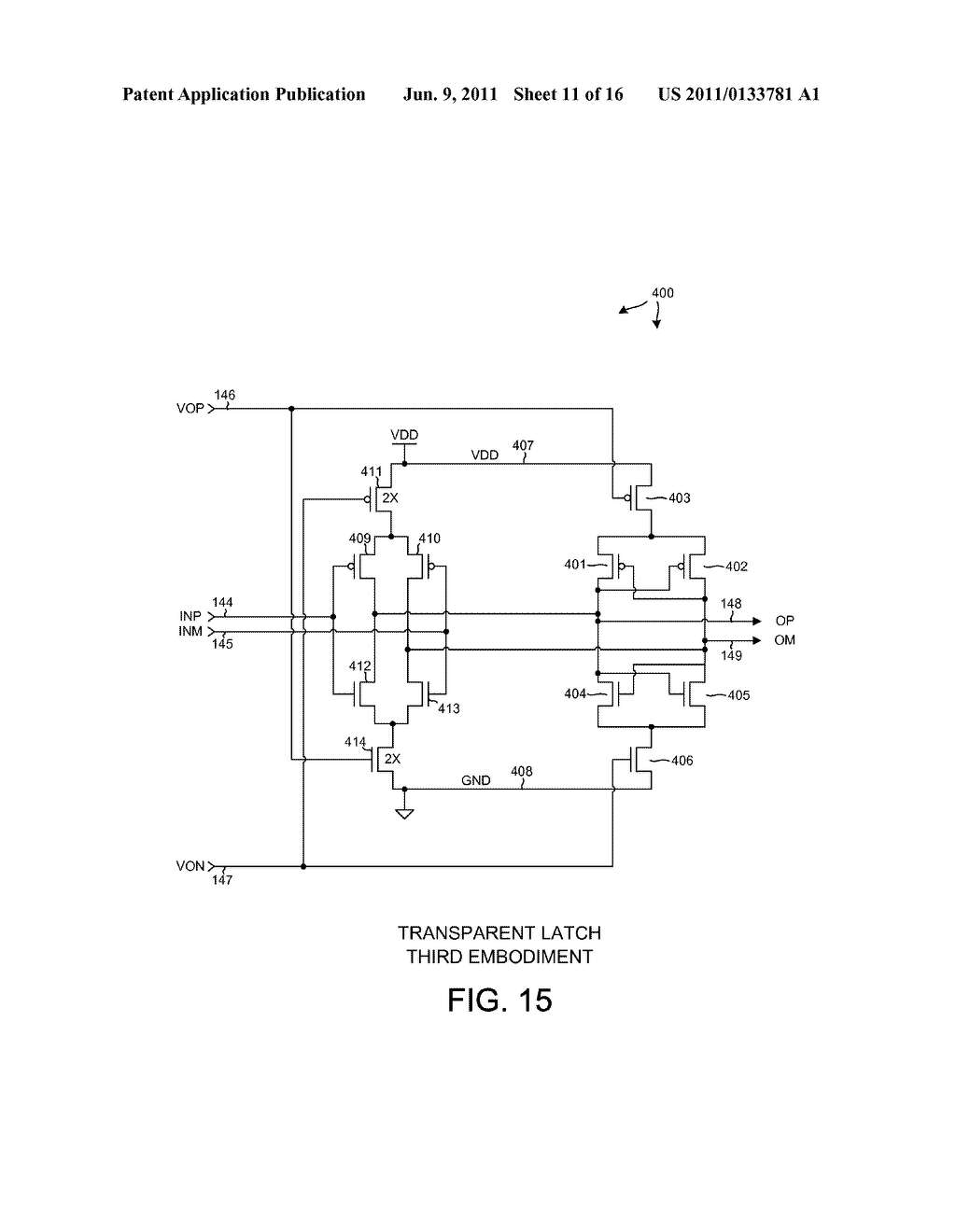 LOW POWER COMPLEMENTARY LOGIC LATCH AND RF DIVIDER - diagram, schematic, and image 12