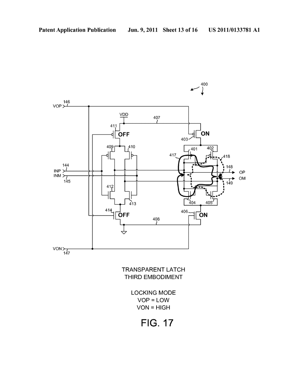 LOW POWER COMPLEMENTARY LOGIC LATCH AND RF DIVIDER - diagram, schematic, and image 14
