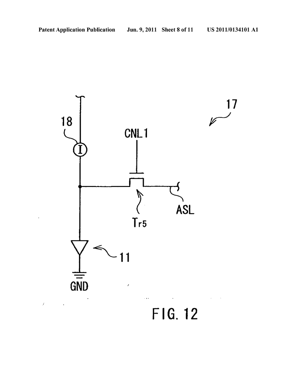 Display device, method of driving the display device, and electronic     device - diagram, schematic, and image 09