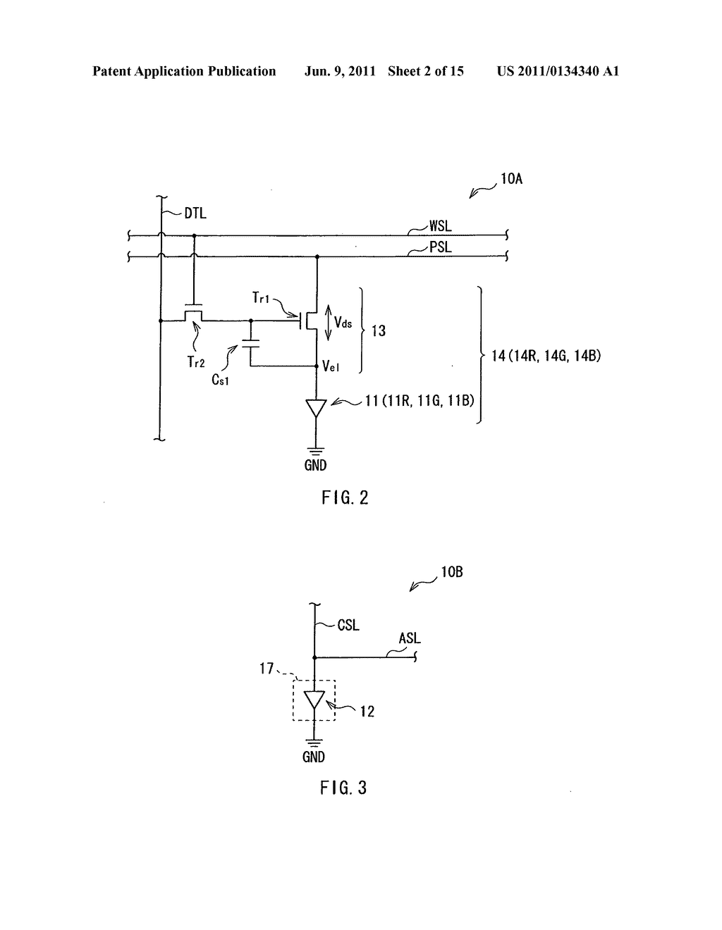 Display device, method of driving the display device, and electronic     device - diagram, schematic, and image 03