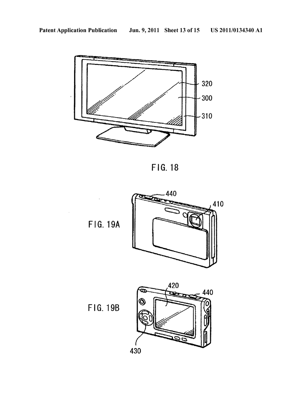 Display device, method of driving the display device, and electronic     device - diagram, schematic, and image 14