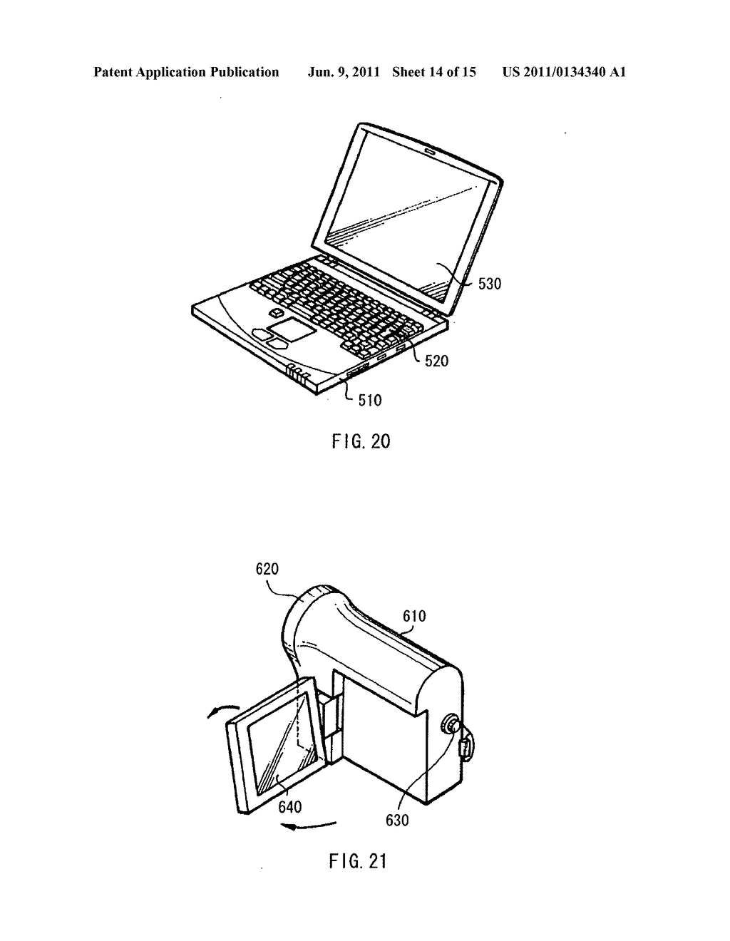 Display device, method of driving the display device, and electronic     device - diagram, schematic, and image 15