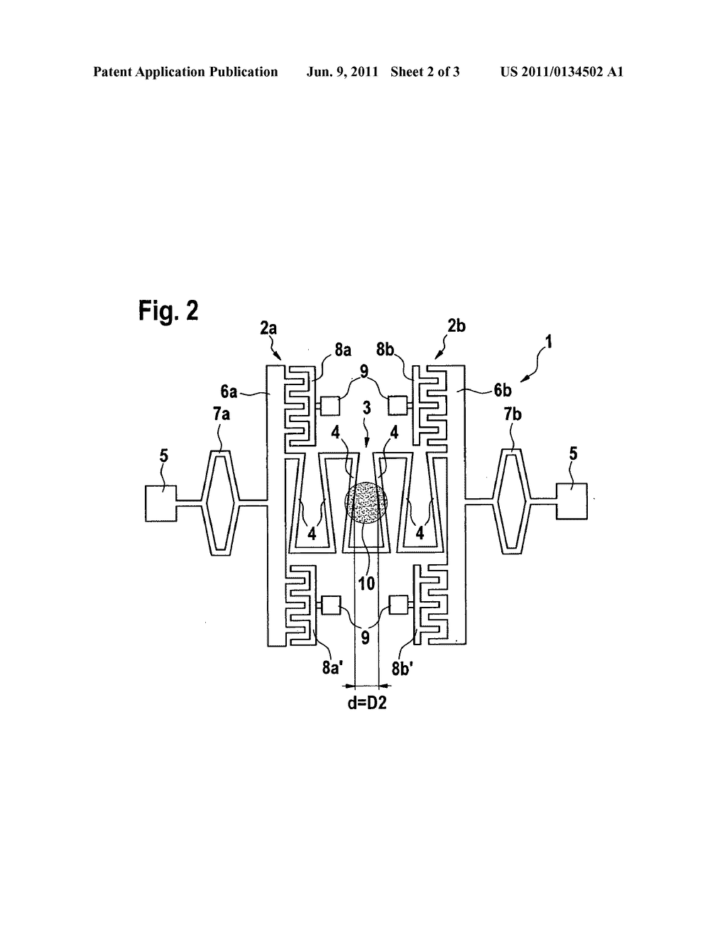 Micromechanical component, device for beam deflection of monochromatic     light, and spectrometer - diagram, schematic, and image 03