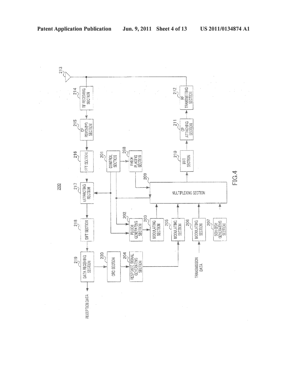 WIRELESS COMMUNICATION BASE STATION DEVICE, WIRELESS COMMUNICATION     TERMINAL DEVICE, AND CHANNEL ALLOCATION METHOD - diagram, schematic, and image 05