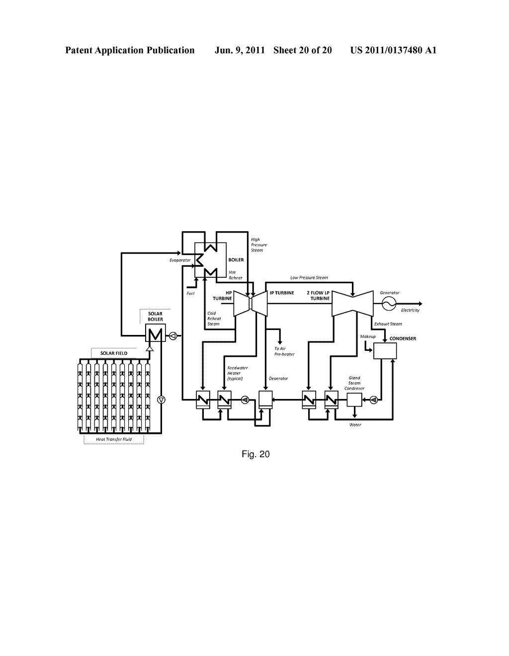Supplemental Solar Superheated Steam In A Concentrated Power Plant Boiler Schematic Enabled Diagram And Image 21