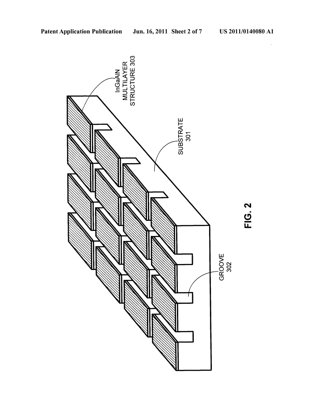 METHOD FOR FABRICATING InGaAIN LIGHT-EMITTING DIODES WITH A METAL     SUBSTRATE - diagram, schematic, and image 03
