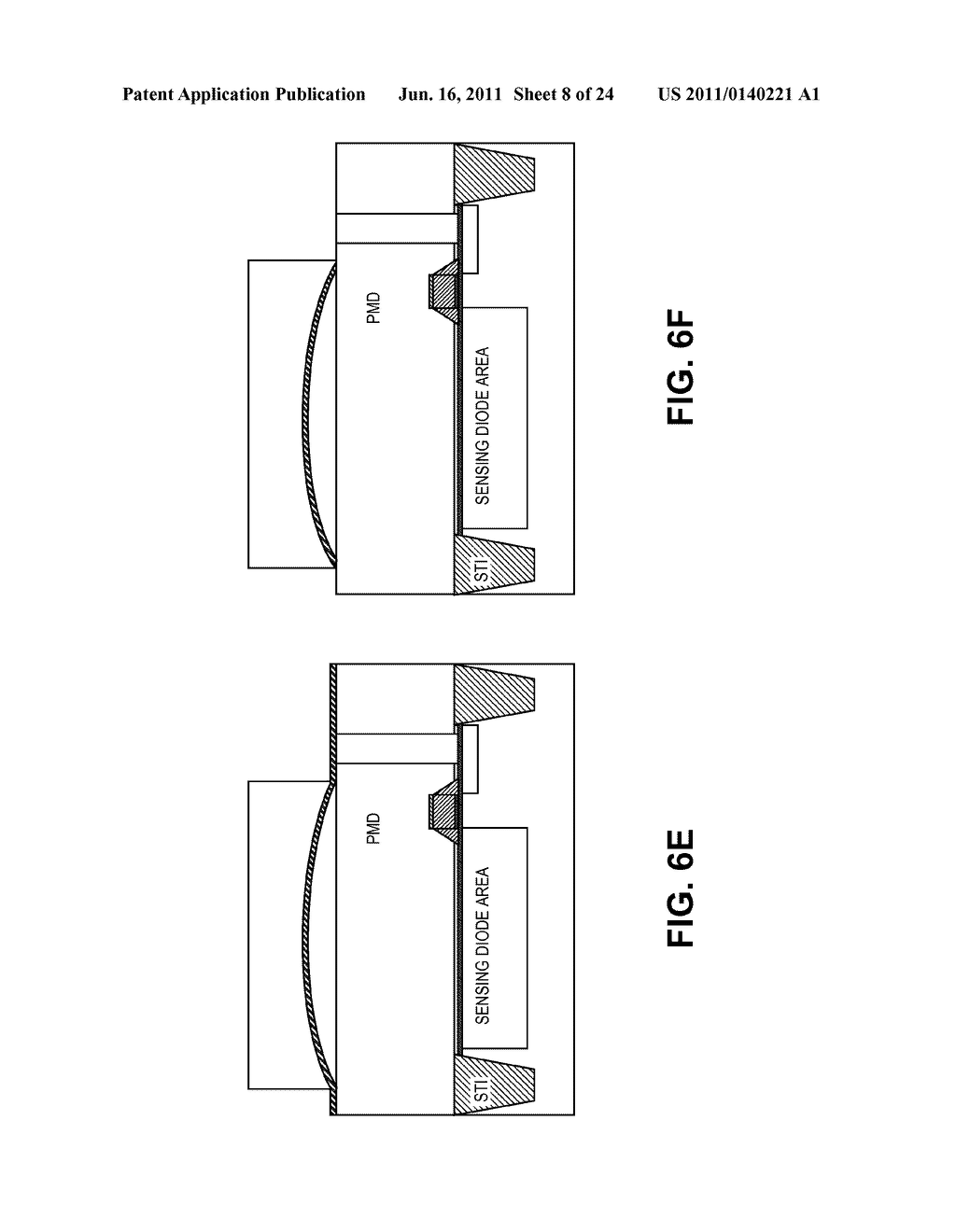 IMAGE SENSOR HAVING CURVED MICRO-MIRRORS OVER THE SENSING PHOTODIODE AND     METHOD FOR FABRICATING - diagram, schematic, and image 09