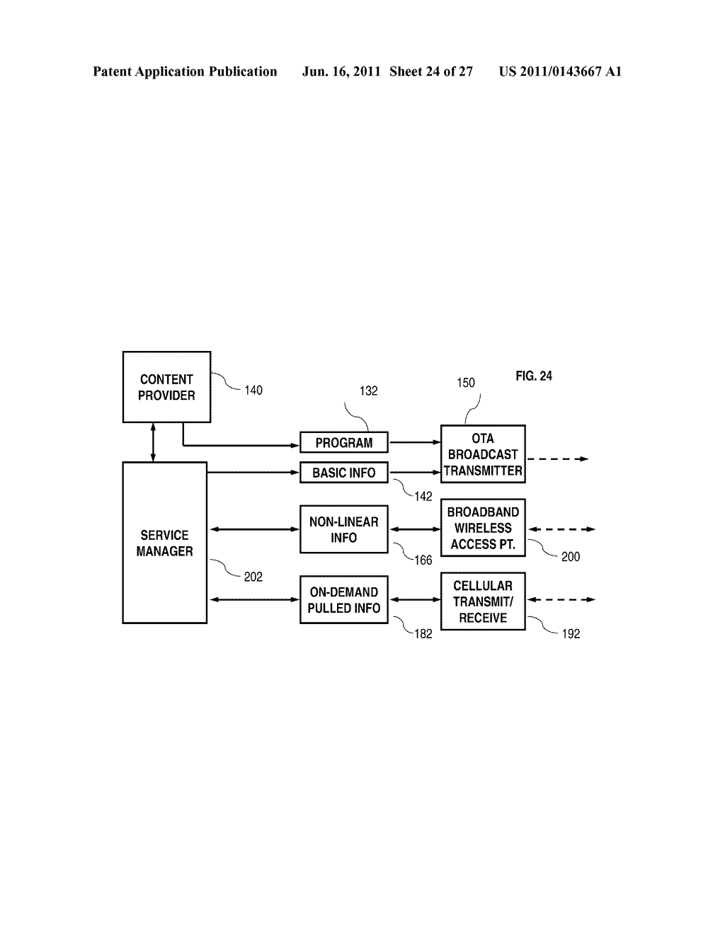 System and Method for Providing Interactive Mobile Content Using Multiple     Communication Paths - diagram, schematic, and image 25