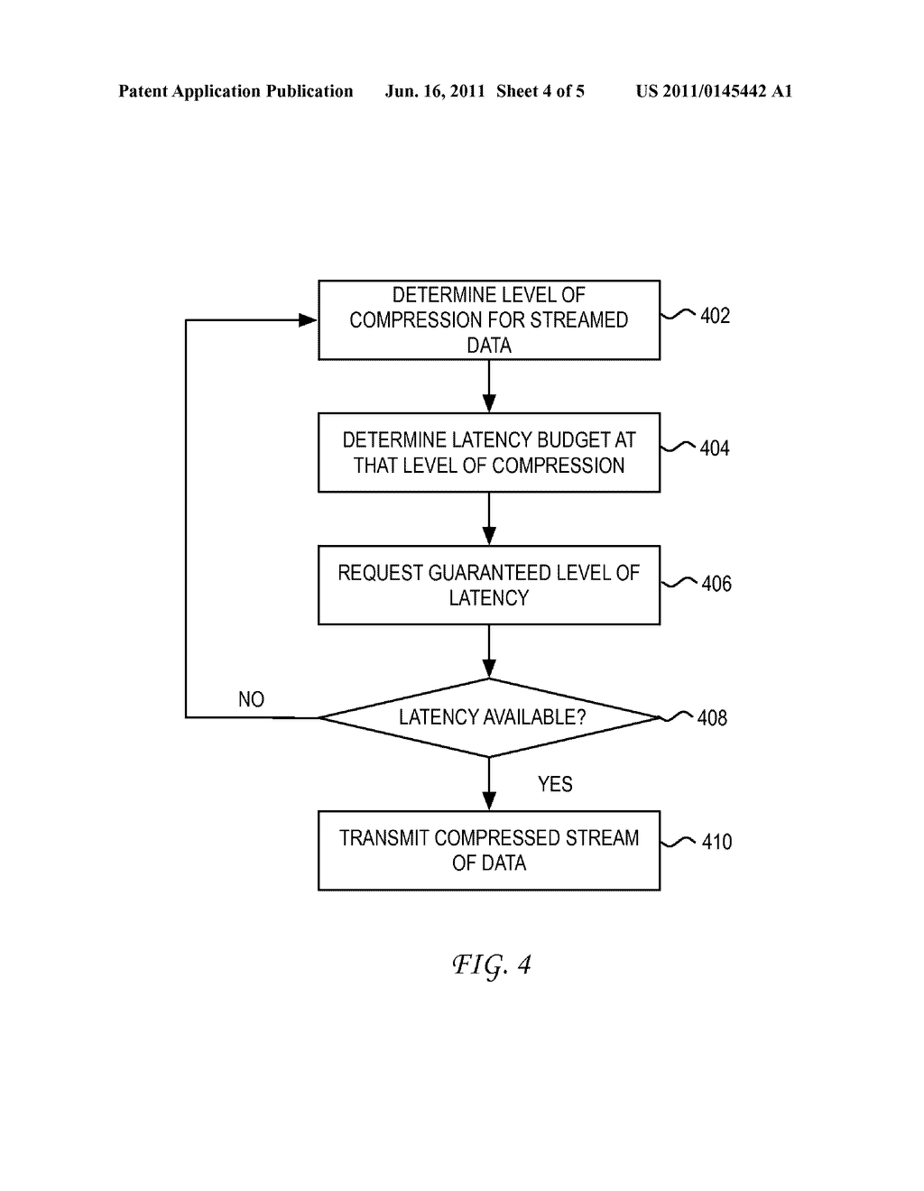 System and Method for Adjusting Compression for Computing Clients Based on     a Latency Level - diagram, schematic, and image 05