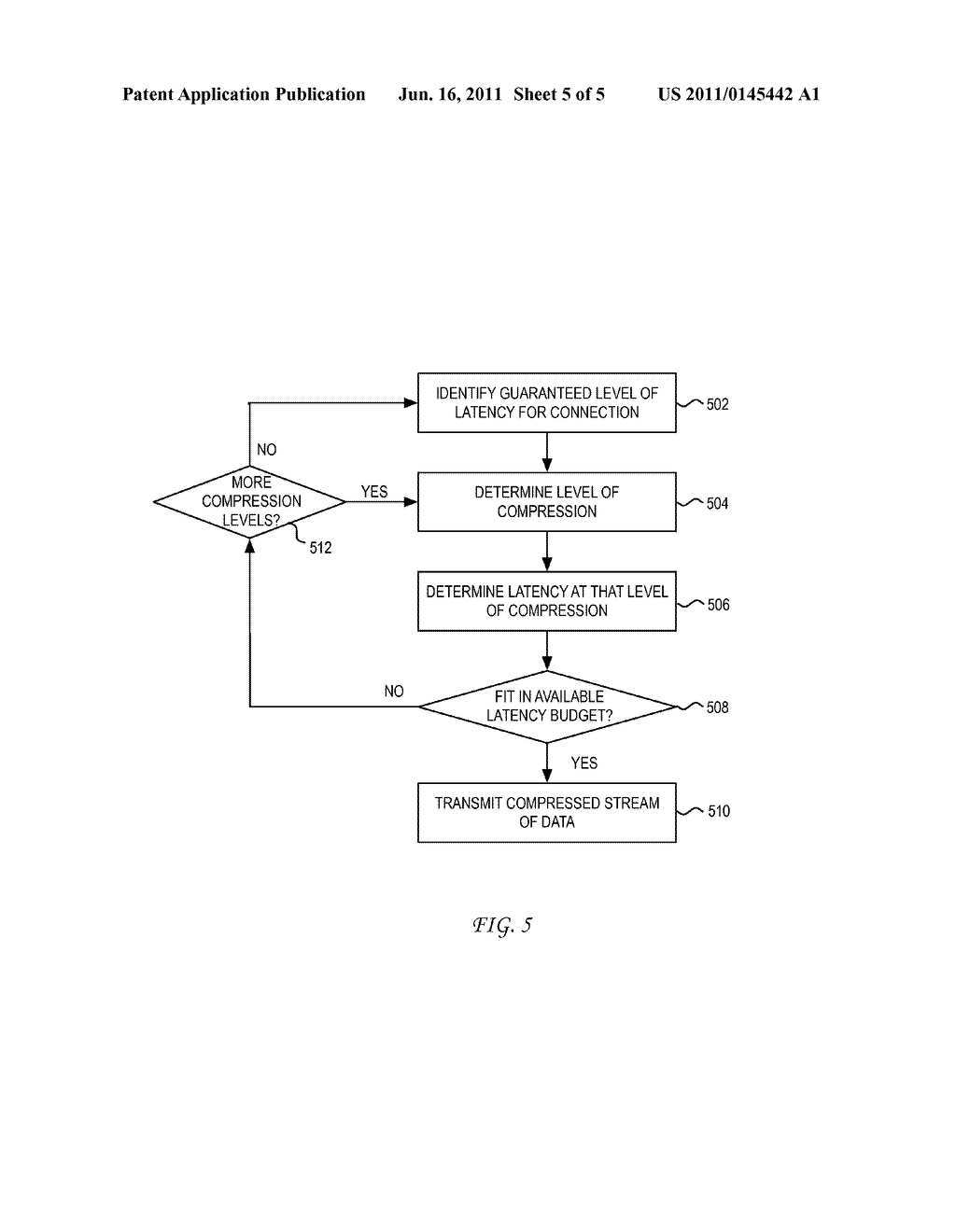 System and Method for Adjusting Compression for Computing Clients Based on     a Latency Level - diagram, schematic, and image 06