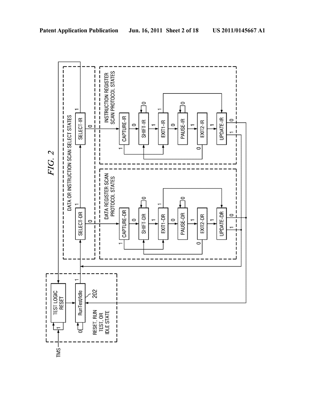 SERIAL I/O USING JTAG TCK AND TMS SIGNALS - diagram, schematic, and image 03