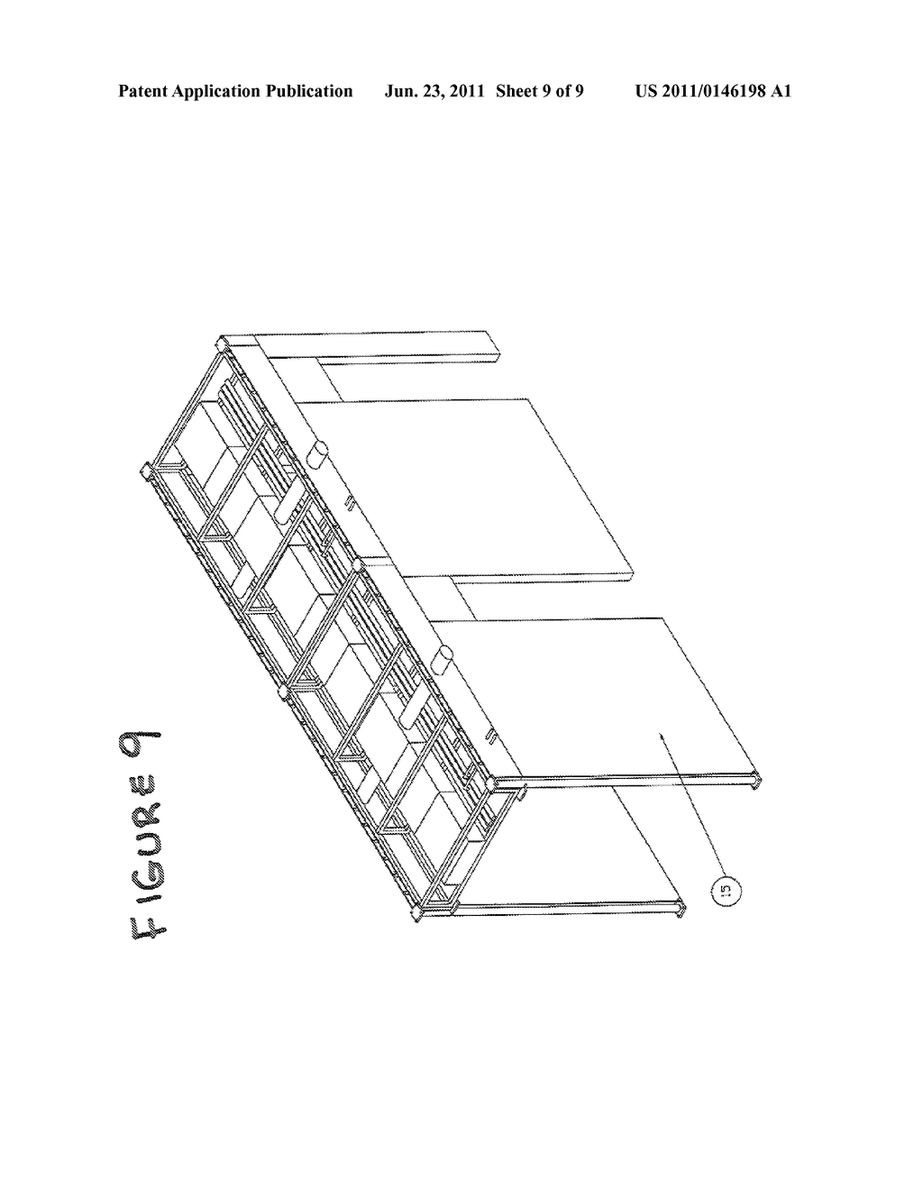 MODULAR SEISMICALLY RESTRAINED DISTRIBUTION SYSTEM AND METHOD OF     INSTALLING THE SAME - diagram, schematic, and image 10