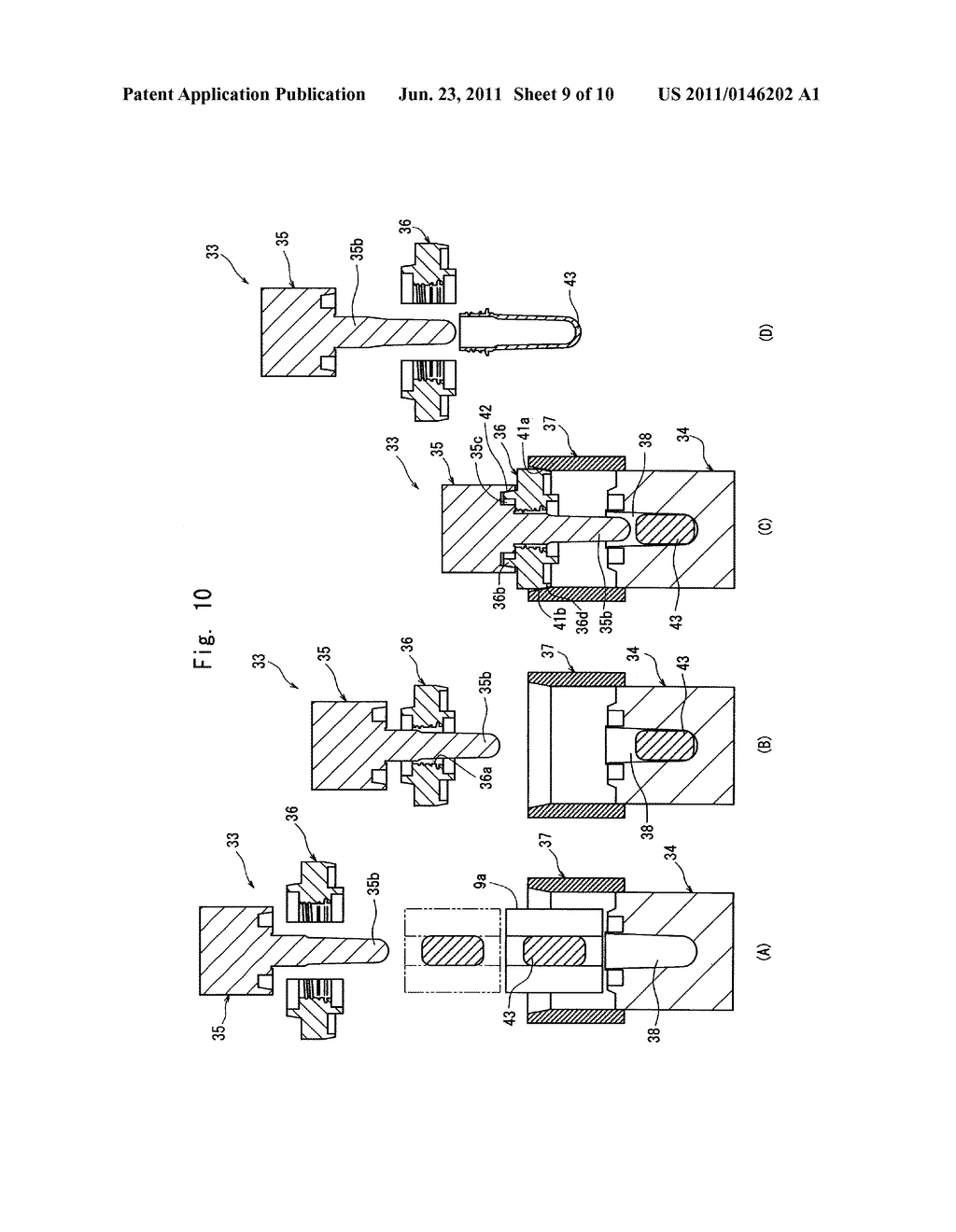 METAL MOLD FOR COMPRESSION-MOLDING PREFORM, PREFORM, SYSTEM FOR     ASEPTICALLY FILLING BEVERAGES AND FOODS USING THE SAME AND METHOD OF     PRODUCING BLOW-MOLDED CONTAINERS - diagram, schematic, and image 10