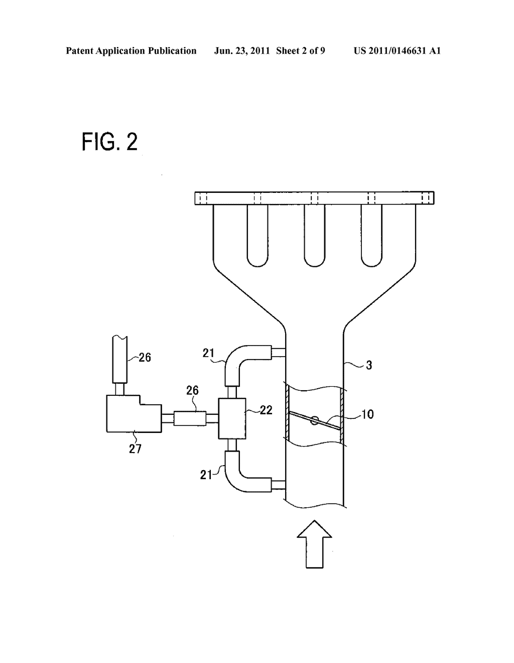 EVAPORATED FUEL TREATMENT APPARATUS FOR INTERNAL COMBUSTION ENGINE - diagram, schematic, and image 03