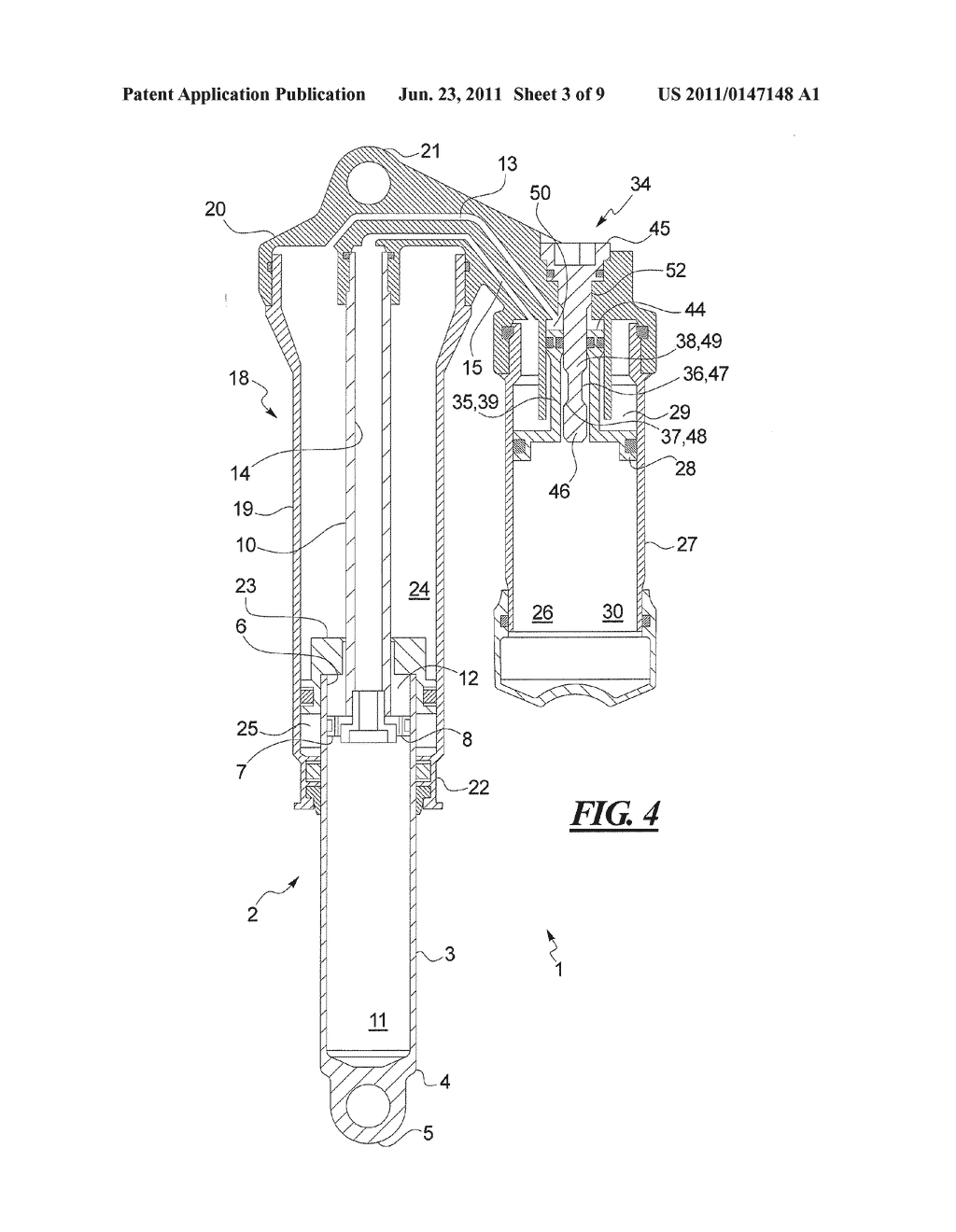 HYDROPNEUMATIC TELESCOPIC STRUT FOR A BICYCLE - diagram, schematic, and image 04
