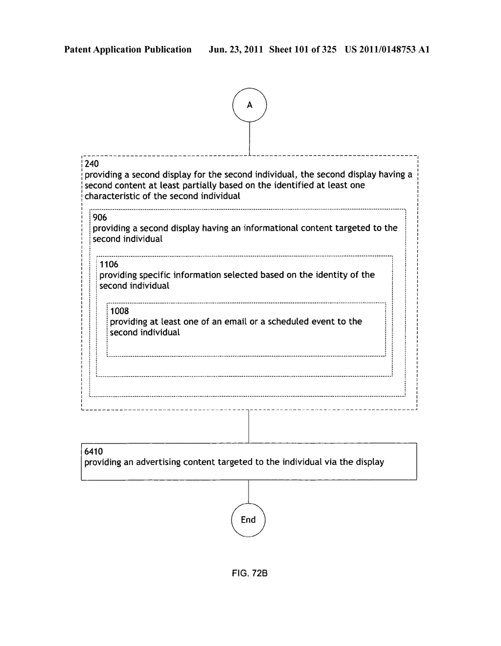 Identifying a characteristic of an individual utilizing facial recognition     and providing a display for the individual - diagram, schematic, and image 102