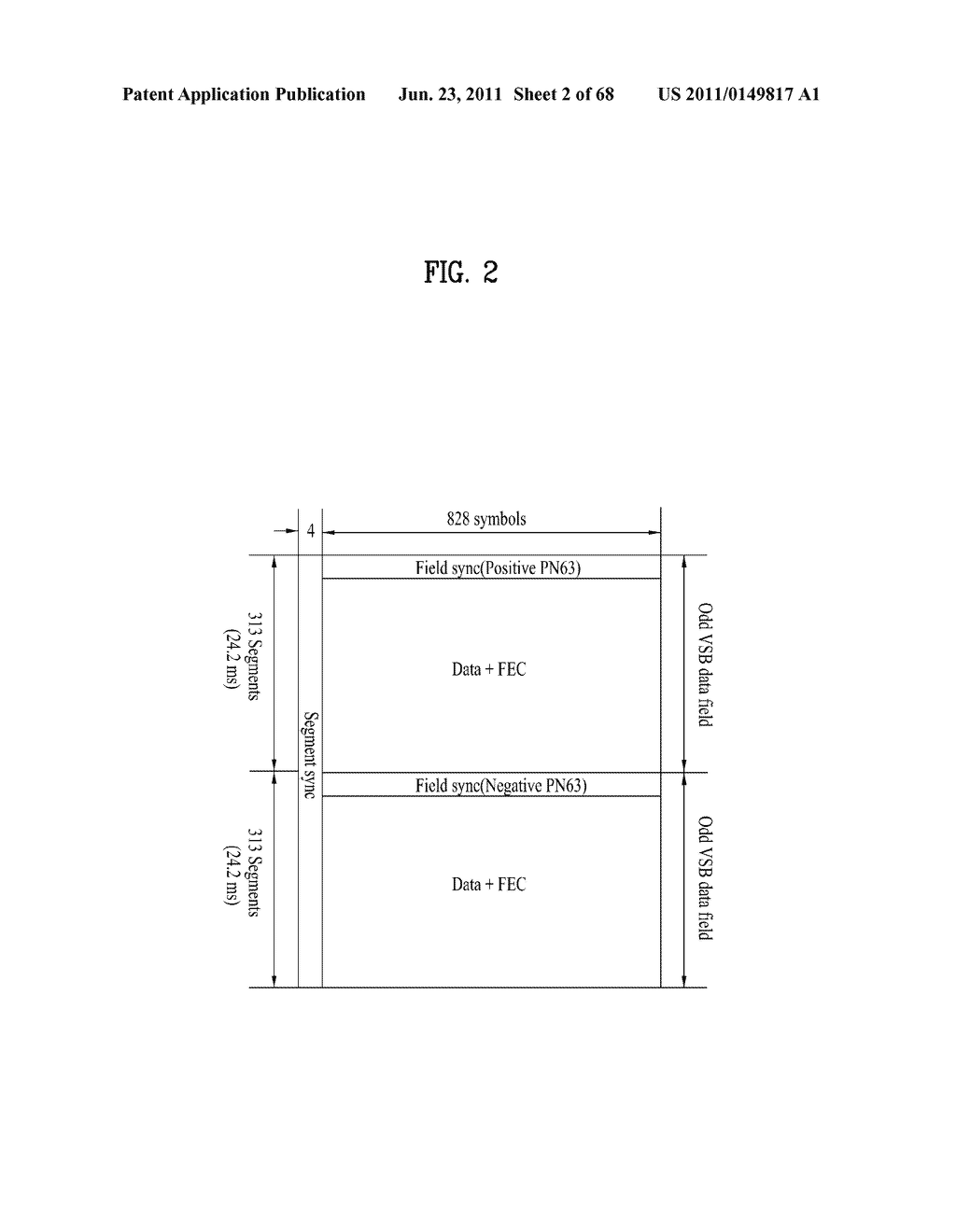TRANSMITTING SYSTEM AND METHOD OF PROCESSING DIGITAL BROADCAST SIGNAL IN     TRANSMITTING SYSTEM, RECEIVING SYSTEM AND METHOD OF RECEIVING DIGITAL     BROADCAST SIGNAL IN RECEIVING SYSTEM - diagram, schematic, and image 03