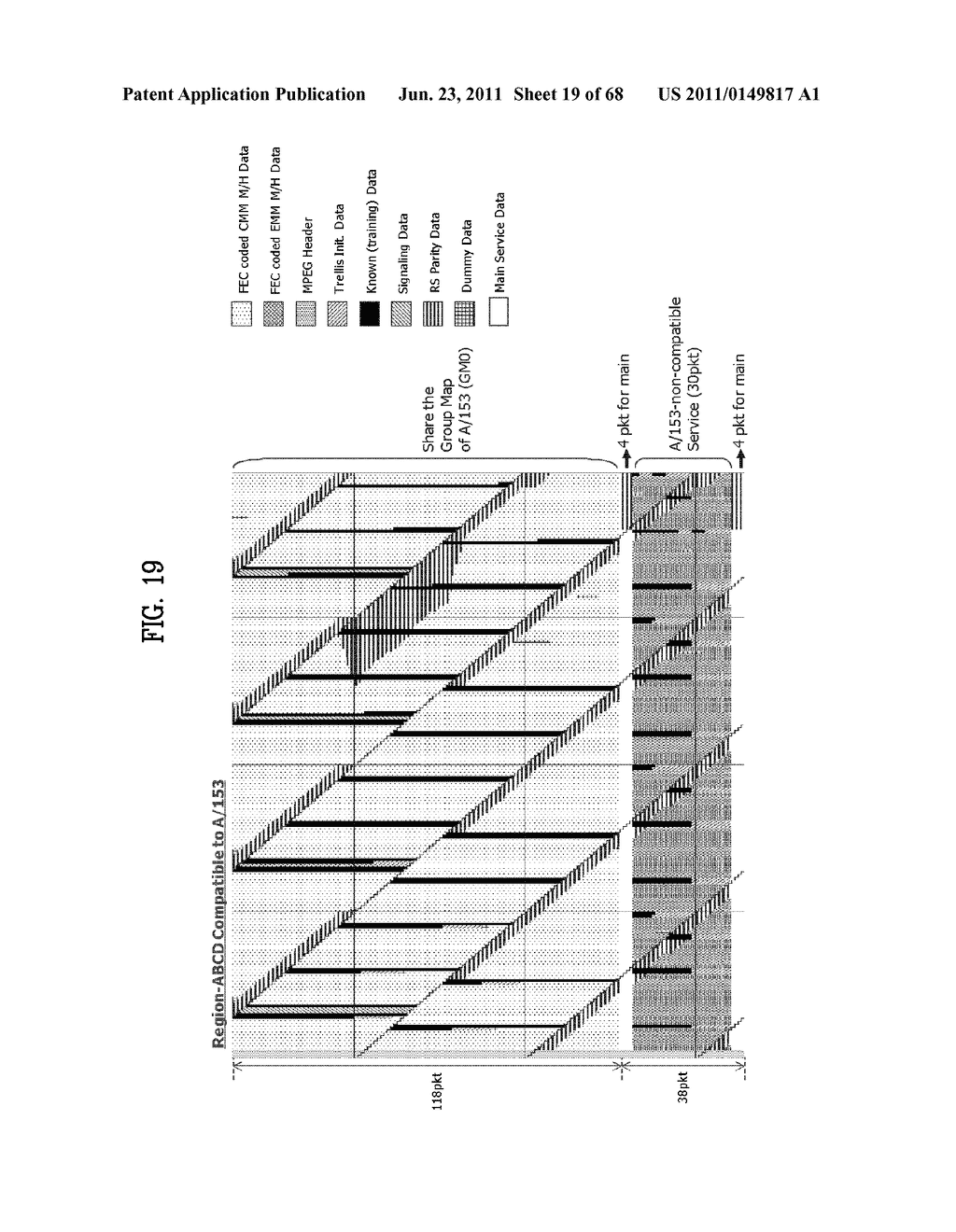 TRANSMITTING SYSTEM AND METHOD OF PROCESSING DIGITAL BROADCAST SIGNAL IN     TRANSMITTING SYSTEM, RECEIVING SYSTEM AND METHOD OF RECEIVING DIGITAL     BROADCAST SIGNAL IN RECEIVING SYSTEM - diagram, schematic, and image 20