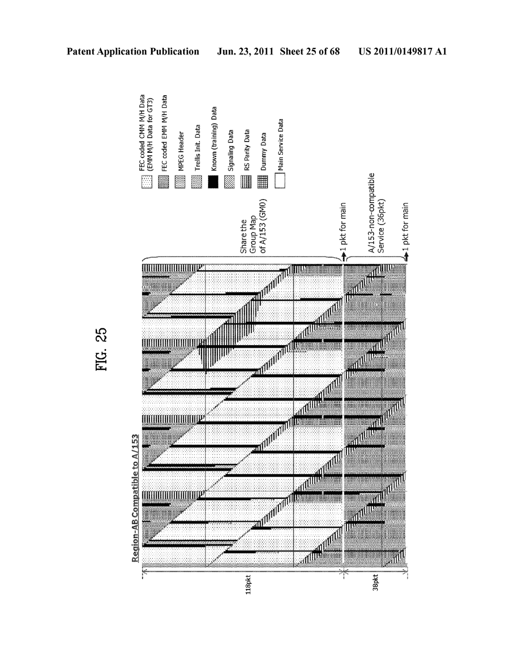 TRANSMITTING SYSTEM AND METHOD OF PROCESSING DIGITAL BROADCAST SIGNAL IN     TRANSMITTING SYSTEM, RECEIVING SYSTEM AND METHOD OF RECEIVING DIGITAL     BROADCAST SIGNAL IN RECEIVING SYSTEM - diagram, schematic, and image 26