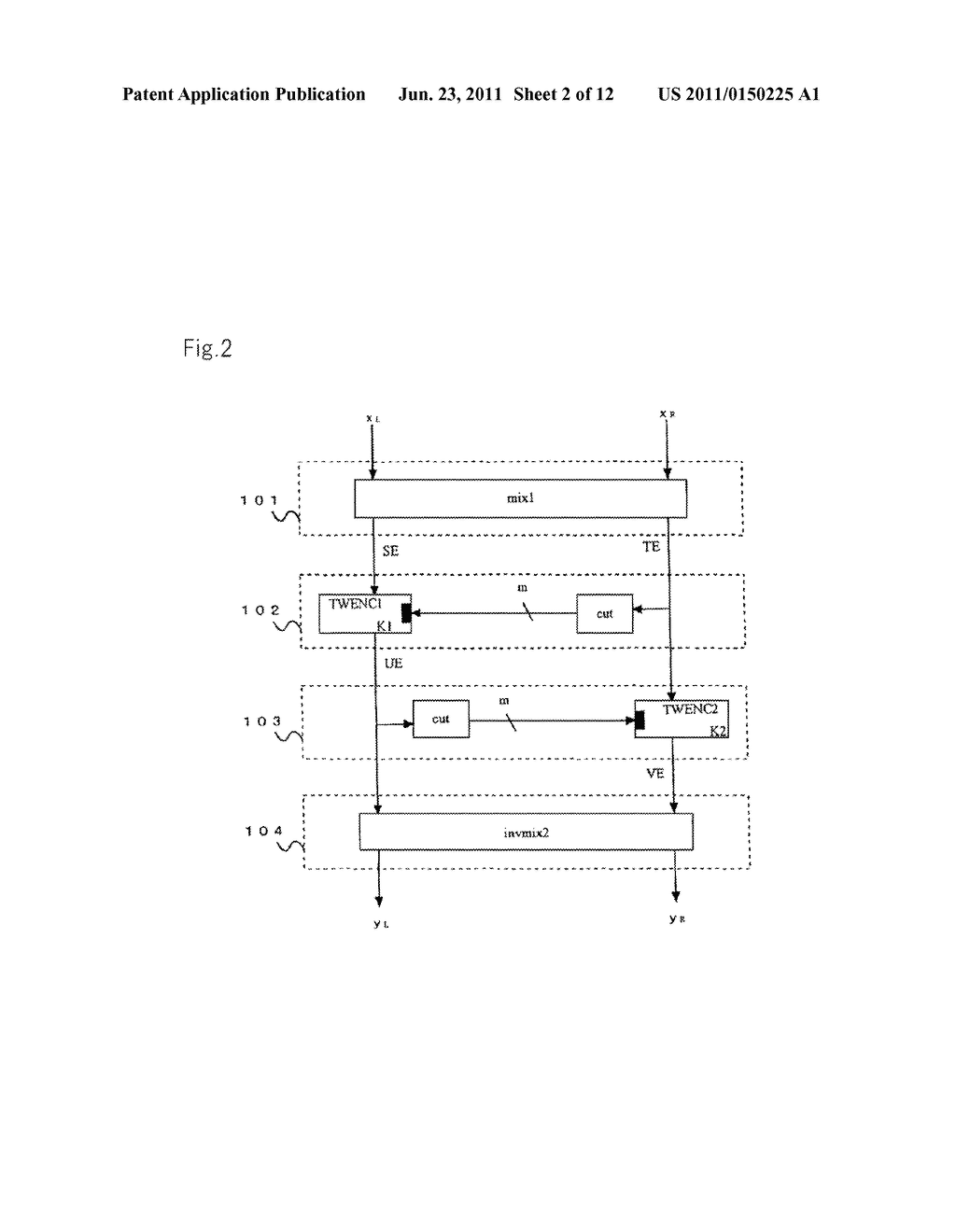ENCRYPTION DEVICES FOR BLOCK HAVING DOUBLE BLOCK LENGTH, DECRYPTION     DEVICES, ENCRYPTION METHOD, DECRYPTION METHOD, AND PROGRAMS THEREOF - diagram, schematic, and image 03