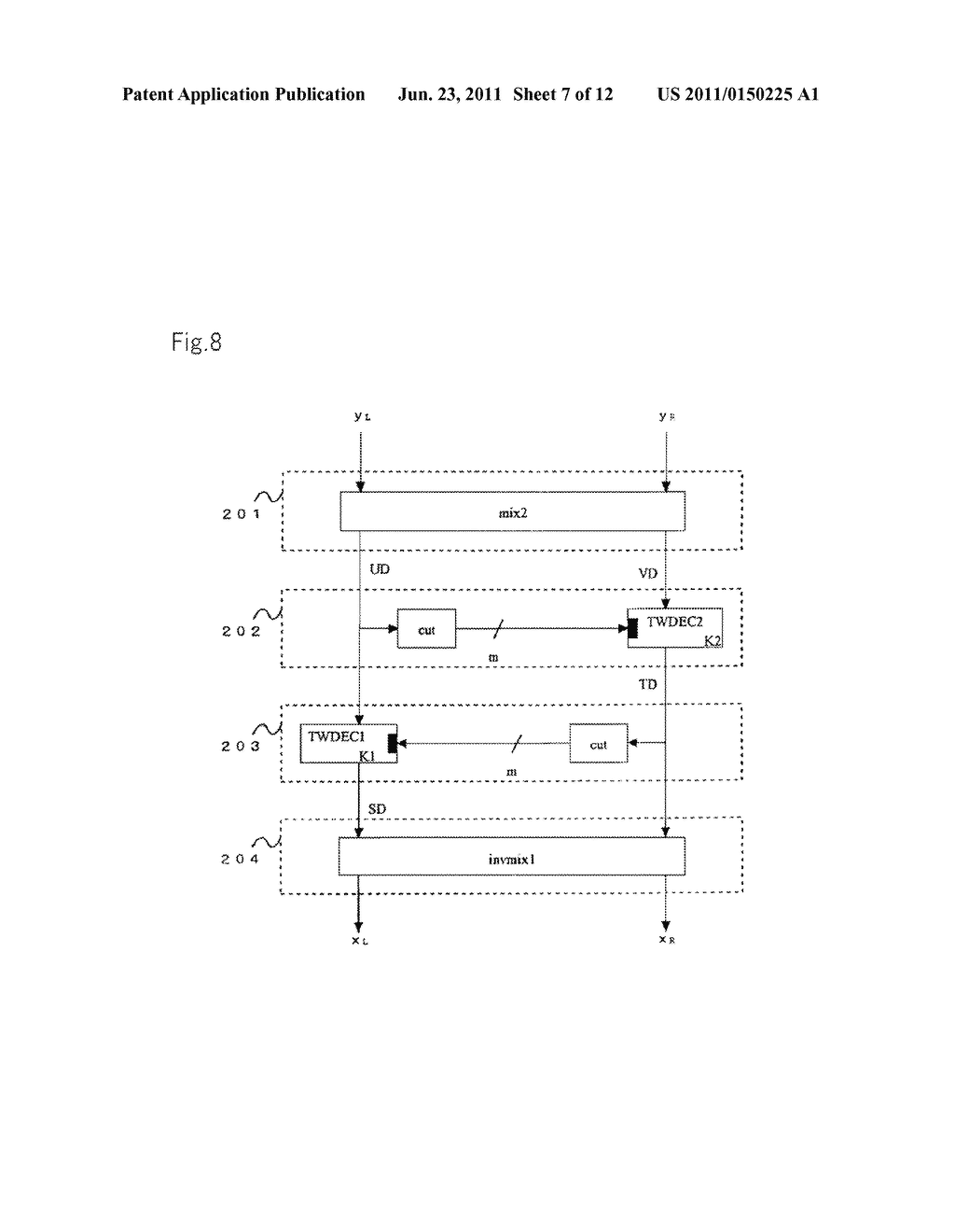 ENCRYPTION DEVICES FOR BLOCK HAVING DOUBLE BLOCK LENGTH, DECRYPTION     DEVICES, ENCRYPTION METHOD, DECRYPTION METHOD, AND PROGRAMS THEREOF - diagram, schematic, and image 08