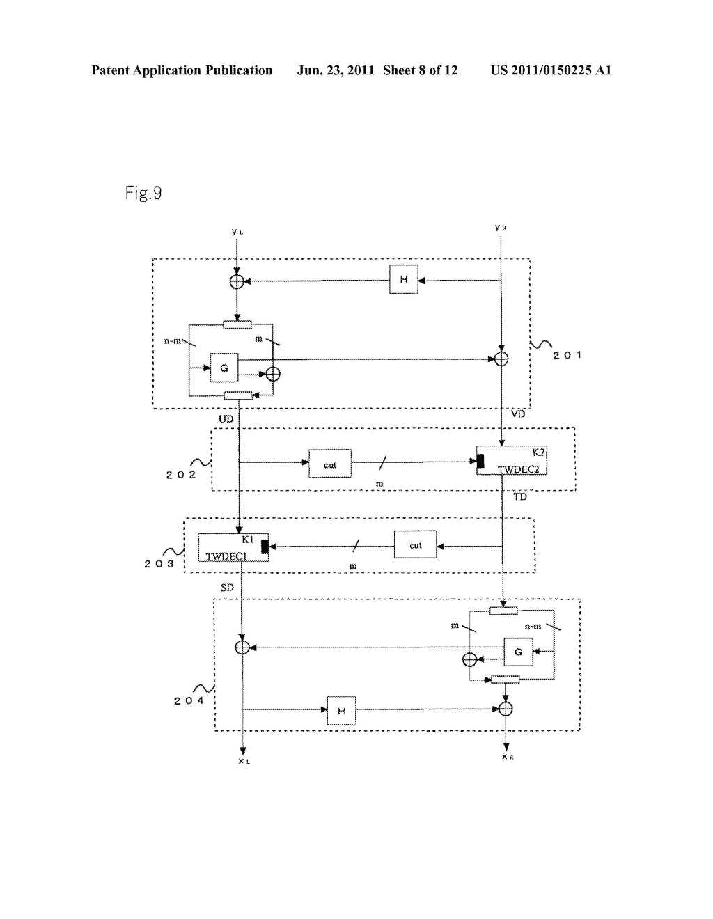 ENCRYPTION DEVICES FOR BLOCK HAVING DOUBLE BLOCK LENGTH, DECRYPTION     DEVICES, ENCRYPTION METHOD, DECRYPTION METHOD, AND PROGRAMS THEREOF - diagram, schematic, and image 09