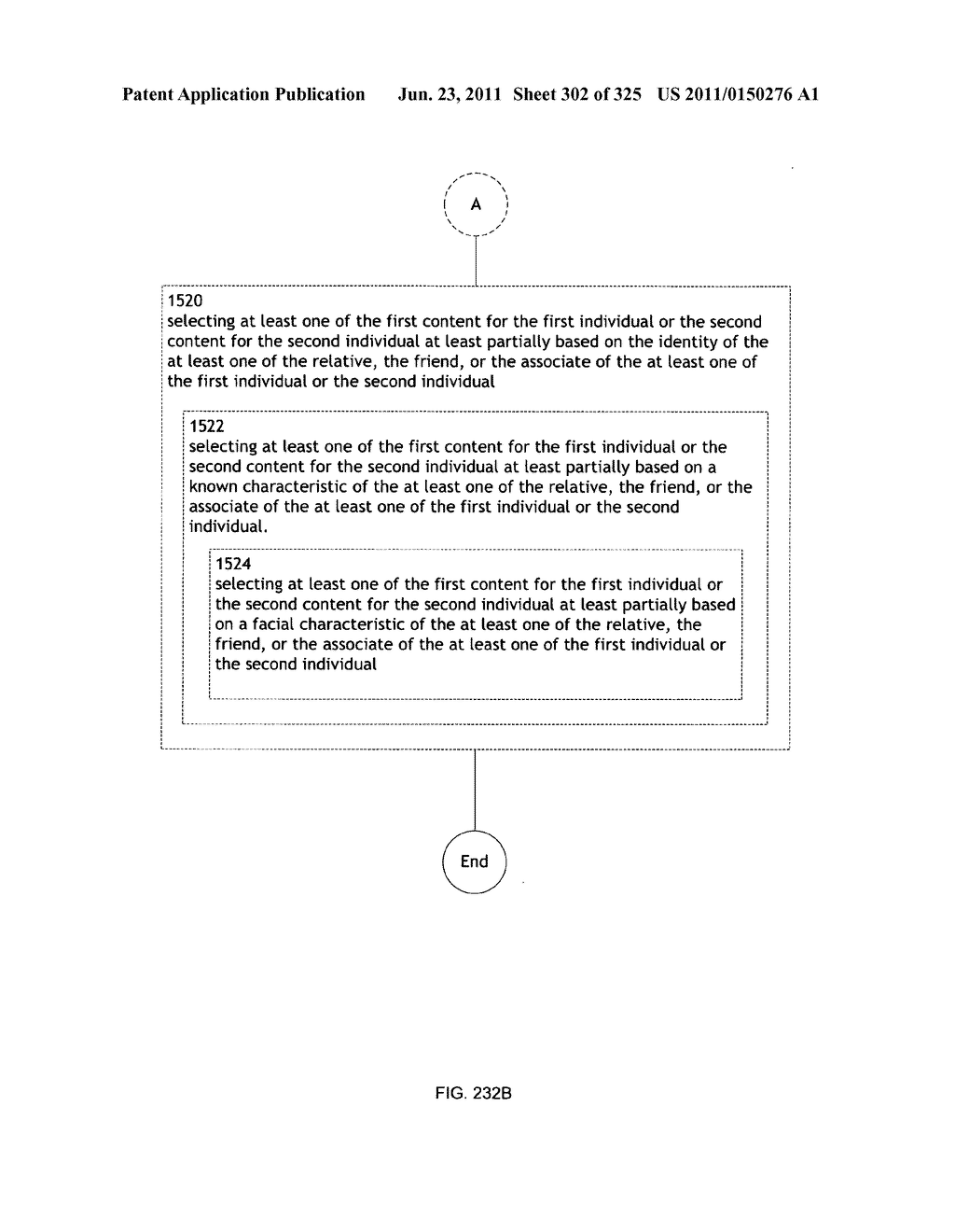 Identifying a characteristic of an individual utilizing facial recognition     and providing a display for the individual - diagram, schematic, and image 303
