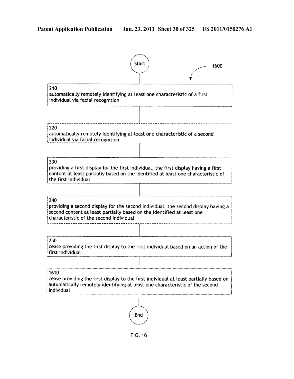 Identifying a characteristic of an individual utilizing facial recognition     and providing a display for the individual - diagram, schematic, and image 31