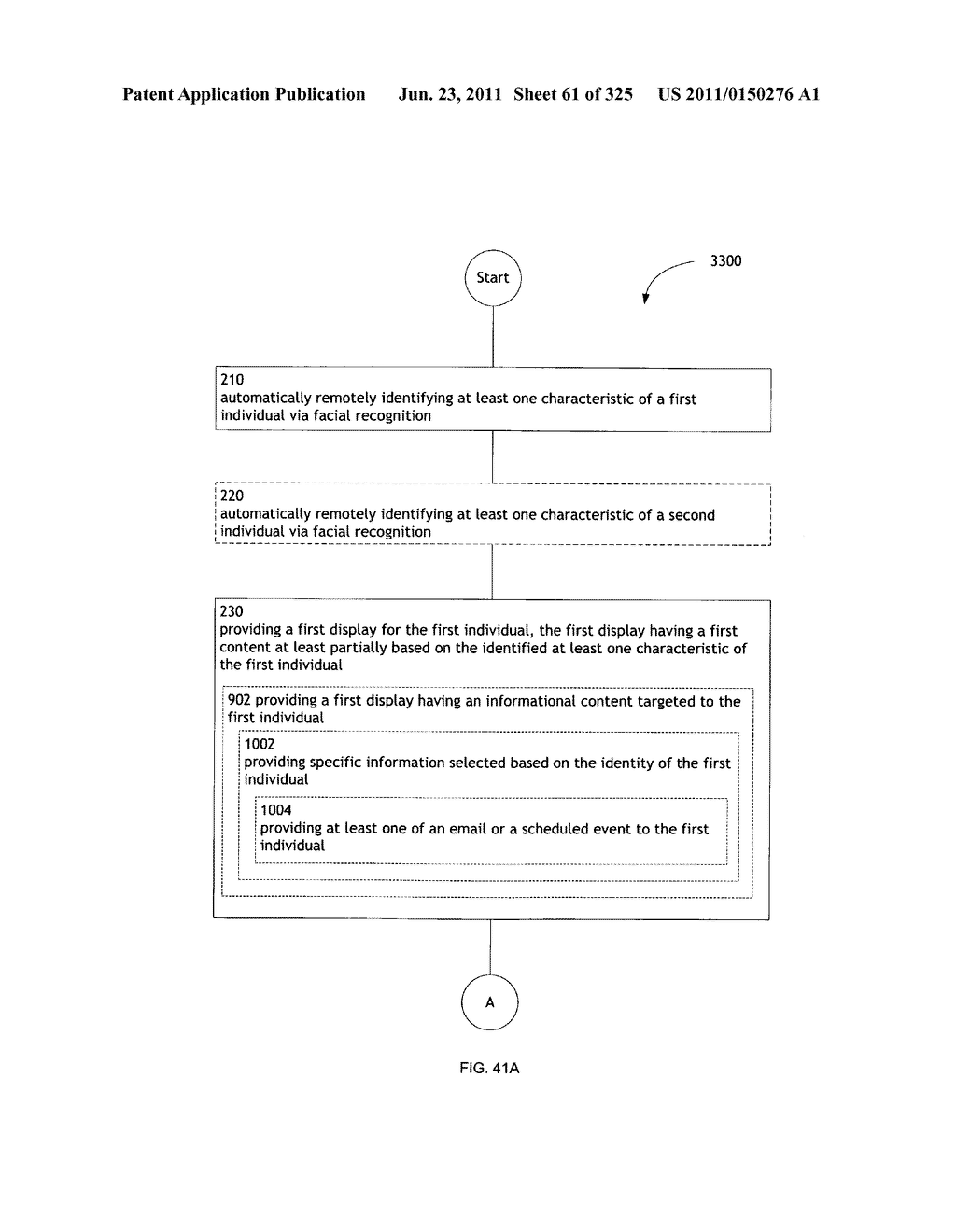 Identifying a characteristic of an individual utilizing facial recognition     and providing a display for the individual - diagram, schematic, and image 62