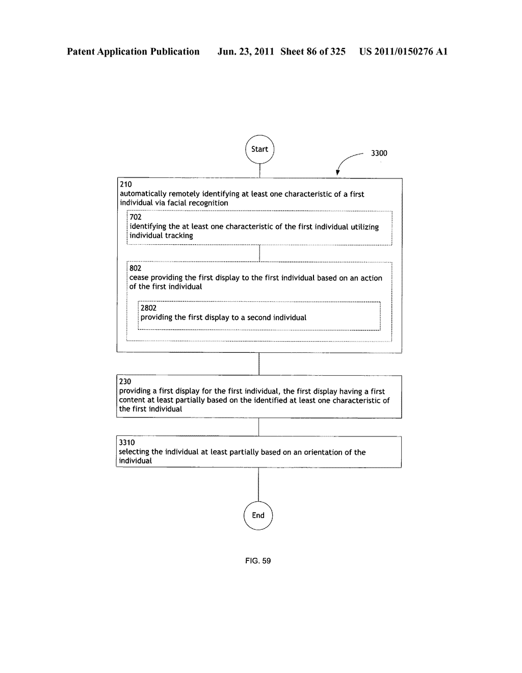 Identifying a characteristic of an individual utilizing facial recognition     and providing a display for the individual - diagram, schematic, and image 87