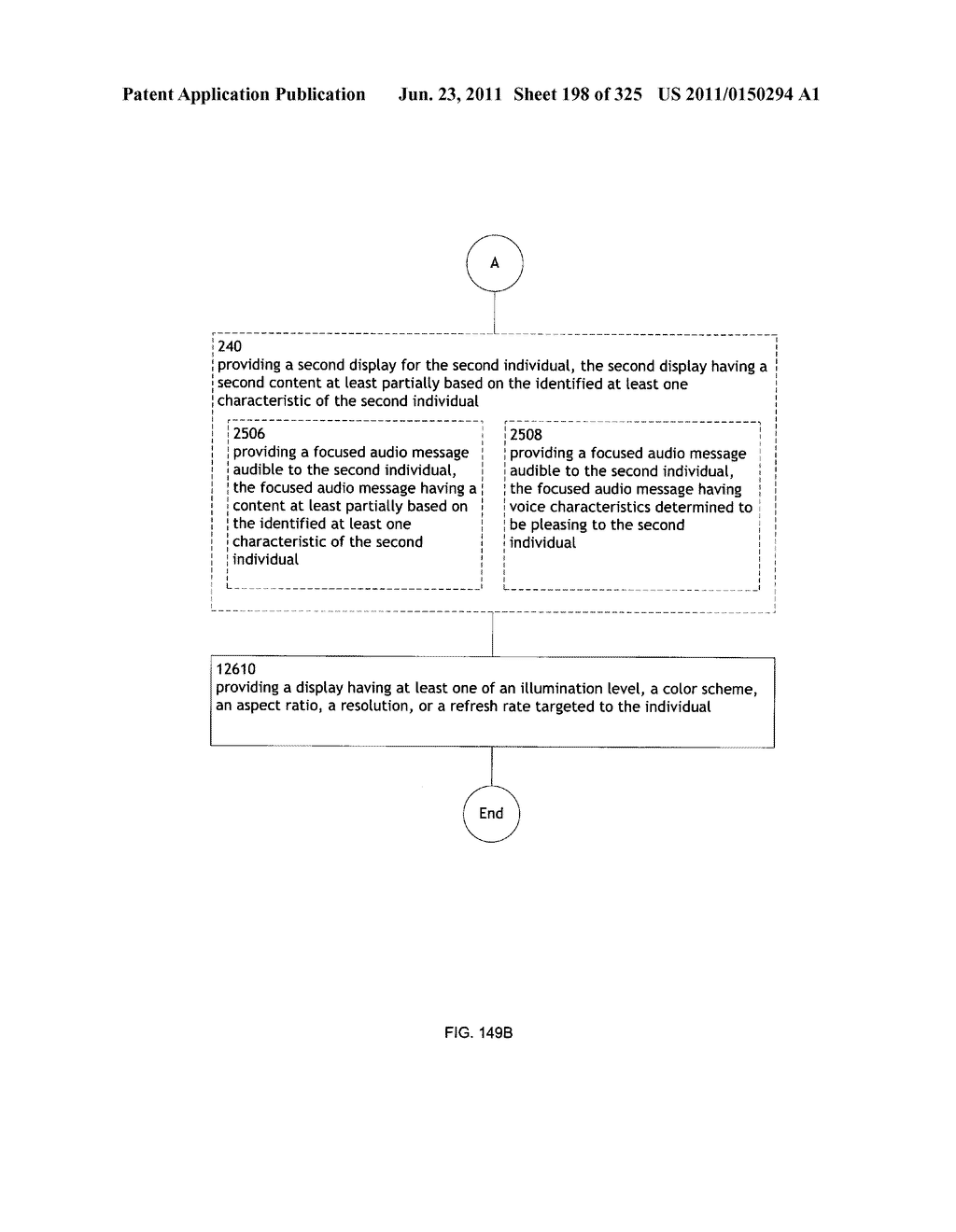 Identifying a characteristic of an individual utilizing facial recognition     and providing a display for the individual - diagram, schematic, and image 199