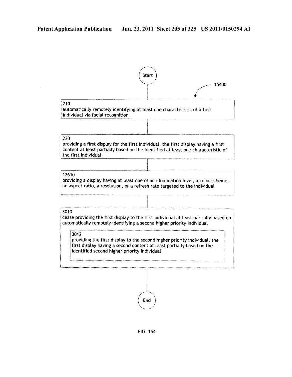 Identifying a characteristic of an individual utilizing facial recognition     and providing a display for the individual - diagram, schematic, and image 206