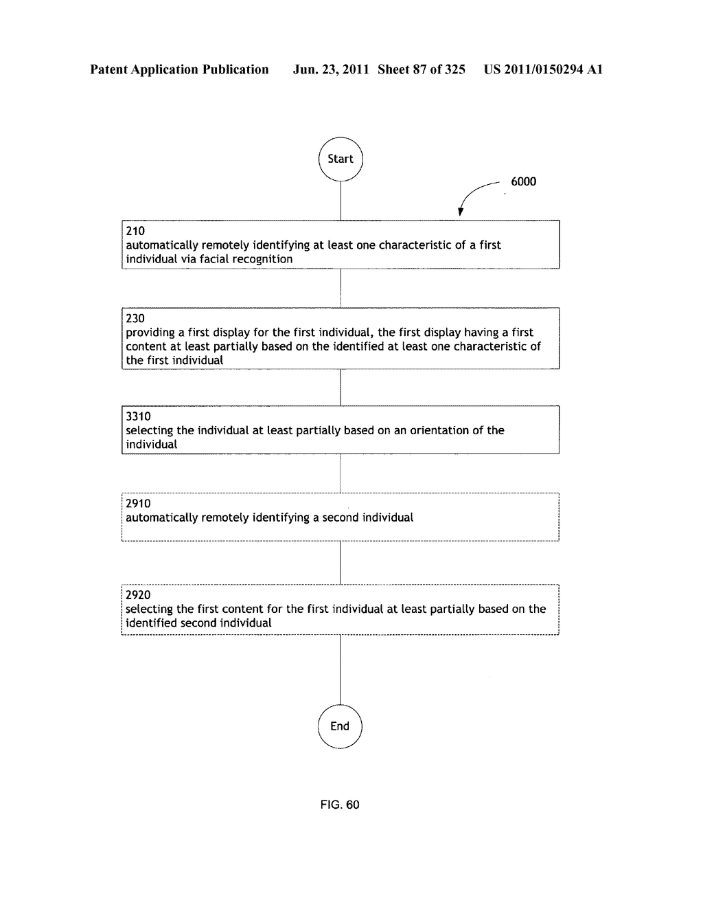 Identifying a characteristic of an individual utilizing facial recognition     and providing a display for the individual - diagram, schematic, and image 88