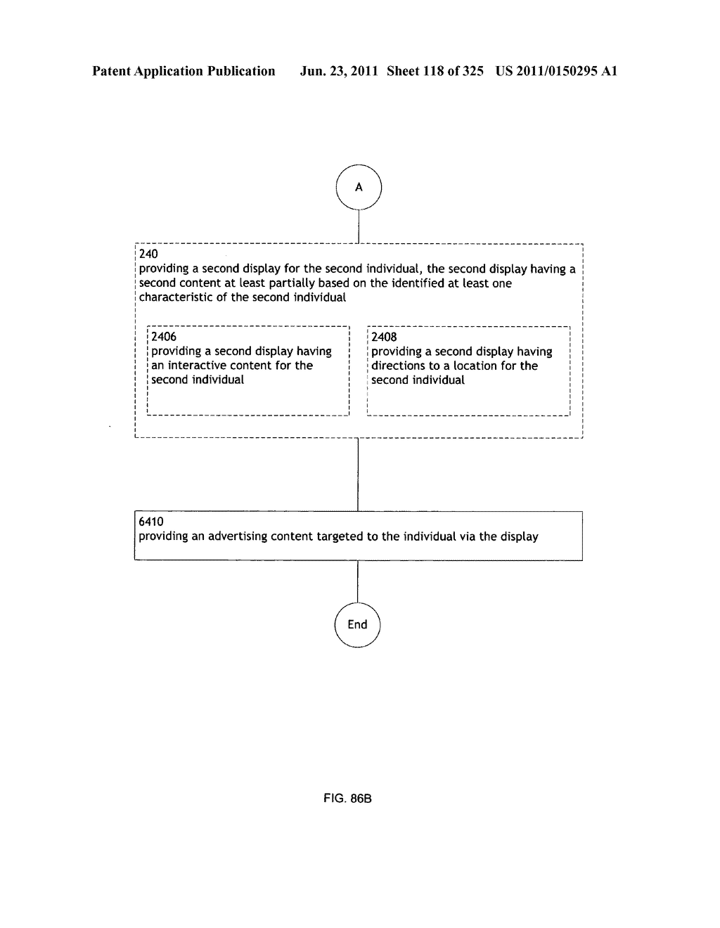 Identifying a characteristic of an individual utilizing facial recognition     and providing a display for the individual - diagram, schematic, and image 119