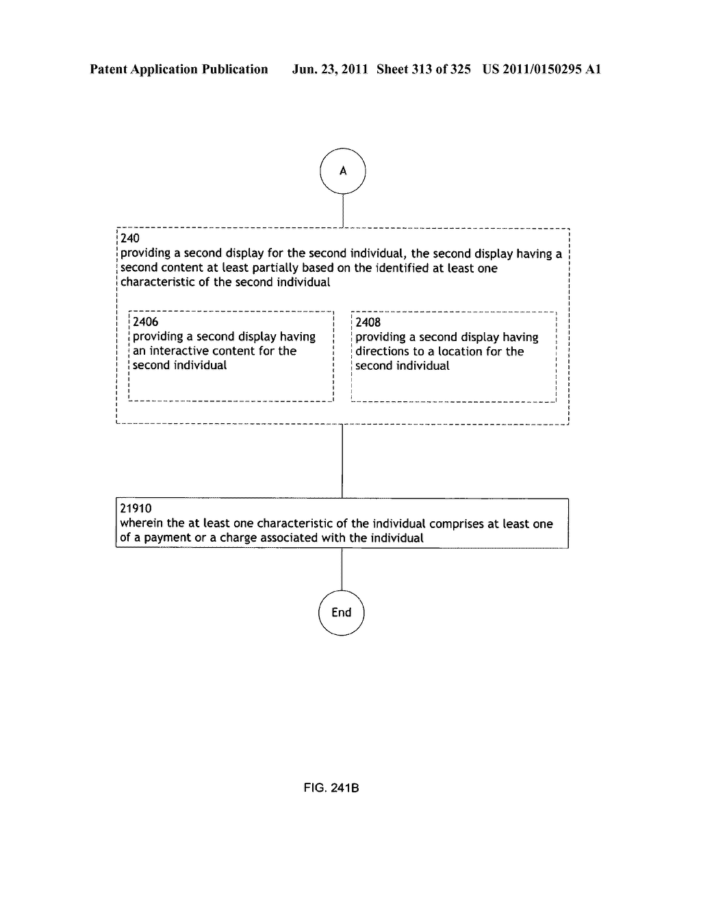 Identifying a characteristic of an individual utilizing facial recognition     and providing a display for the individual - diagram, schematic, and image 314