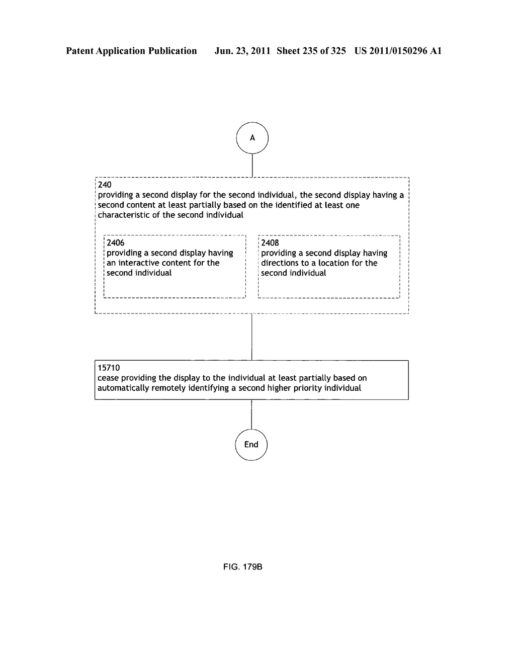 Identifying a characteristic of an individual utilizing facial recognition     and providing a display  for the individual - diagram, schematic, and image 236