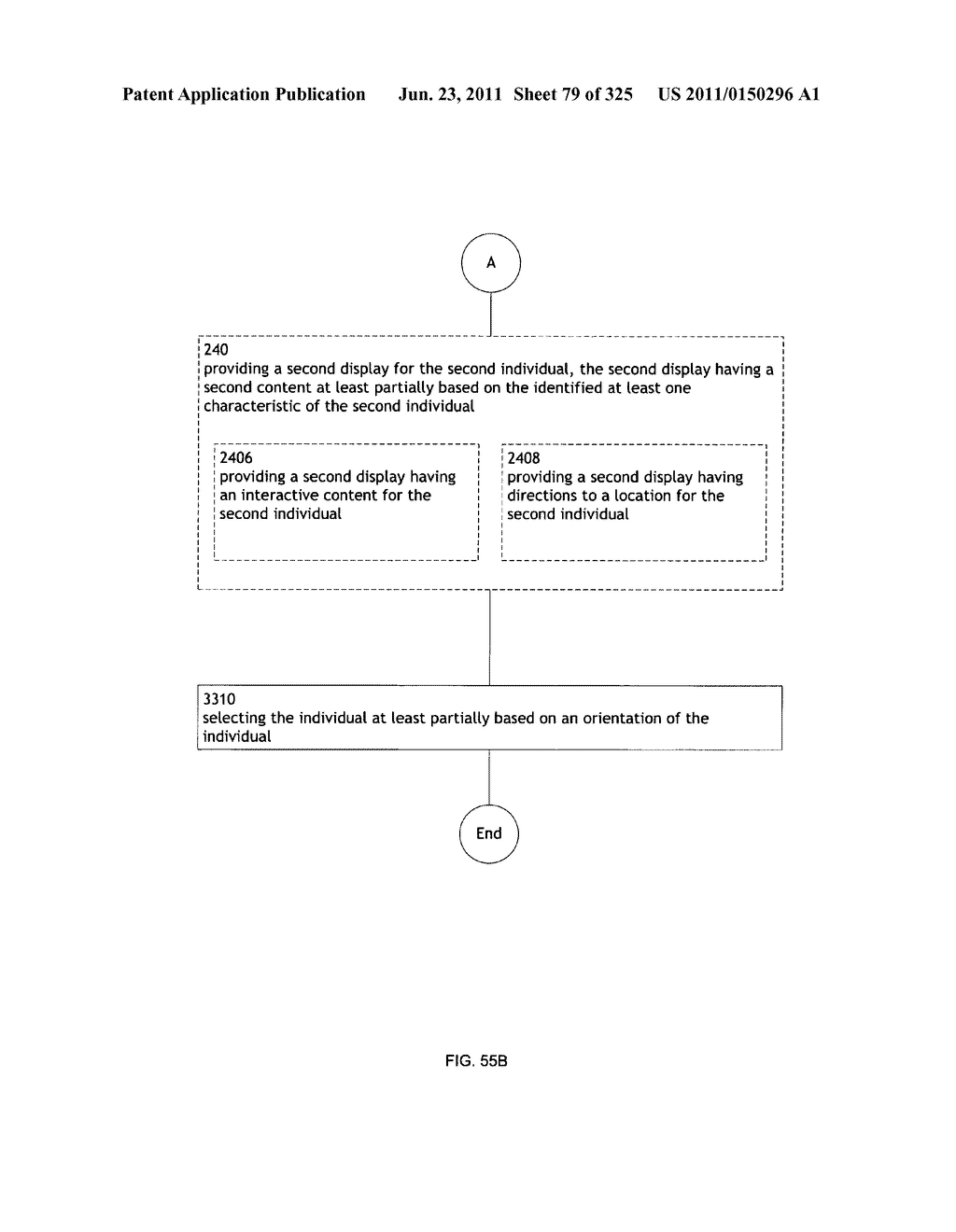 Identifying a characteristic of an individual utilizing facial recognition     and providing a display  for the individual - diagram, schematic, and image 80