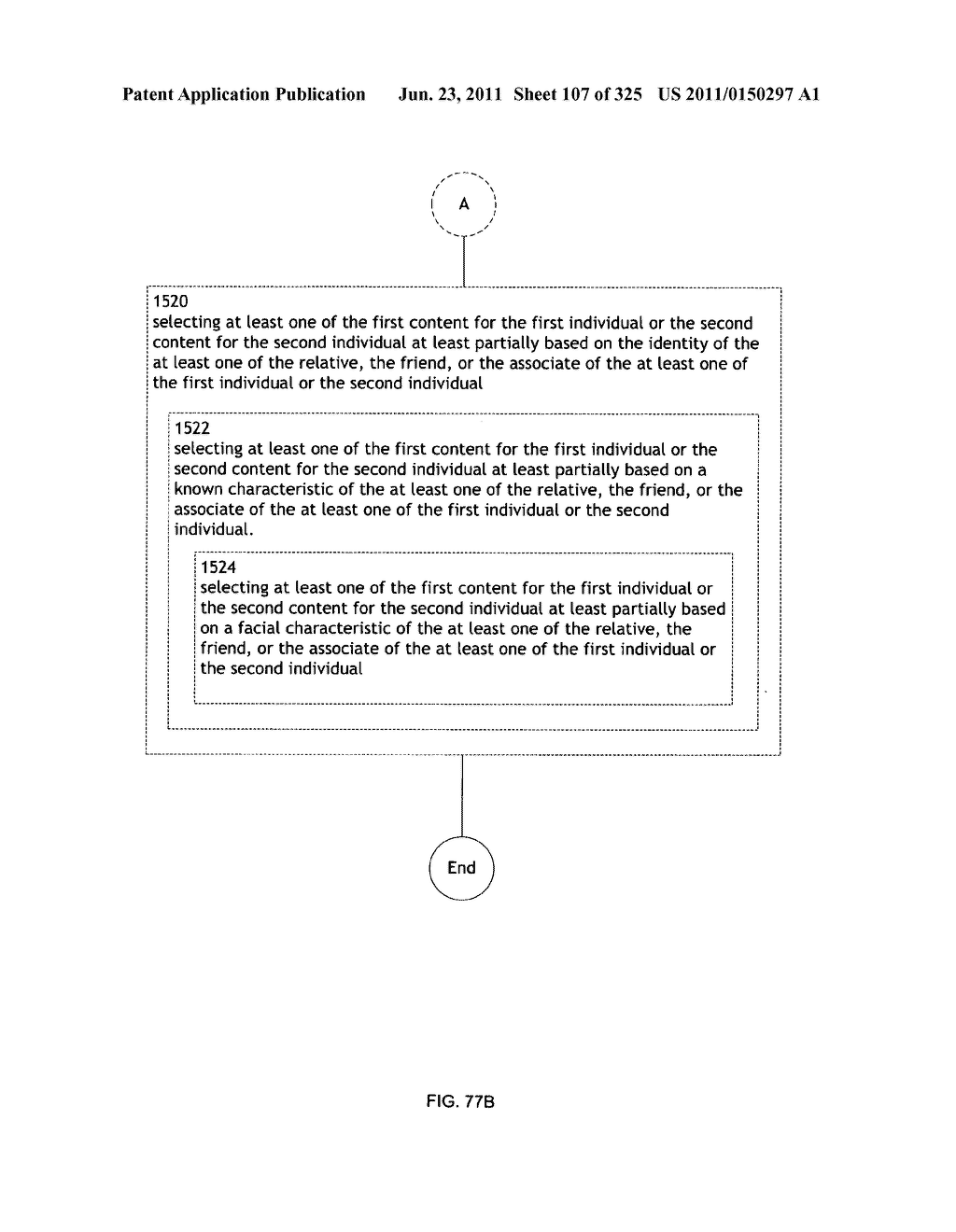 Identifying a characteristic of an individual utilizing facial recognition     and providing a display for the individual - diagram, schematic, and image 108